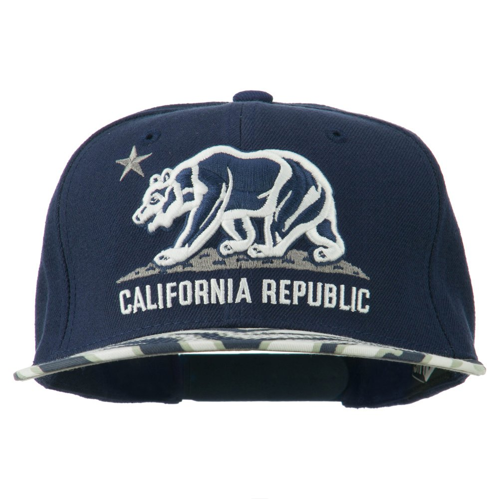 DECKY Ziger Cali Bear Snapback Cap Navy