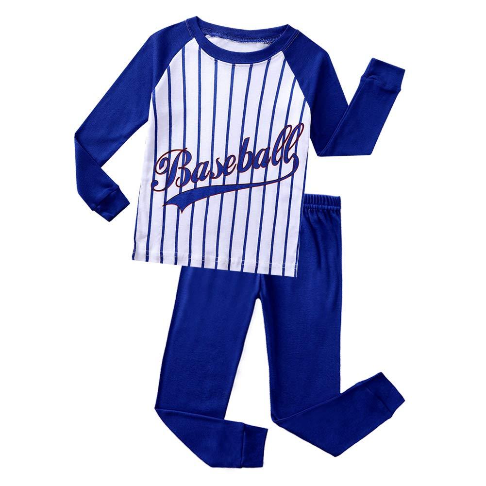 Boys Pajamas Baseball 100/% Cotton Christmas Toddler Pjs Sets Kids Size 2-10
