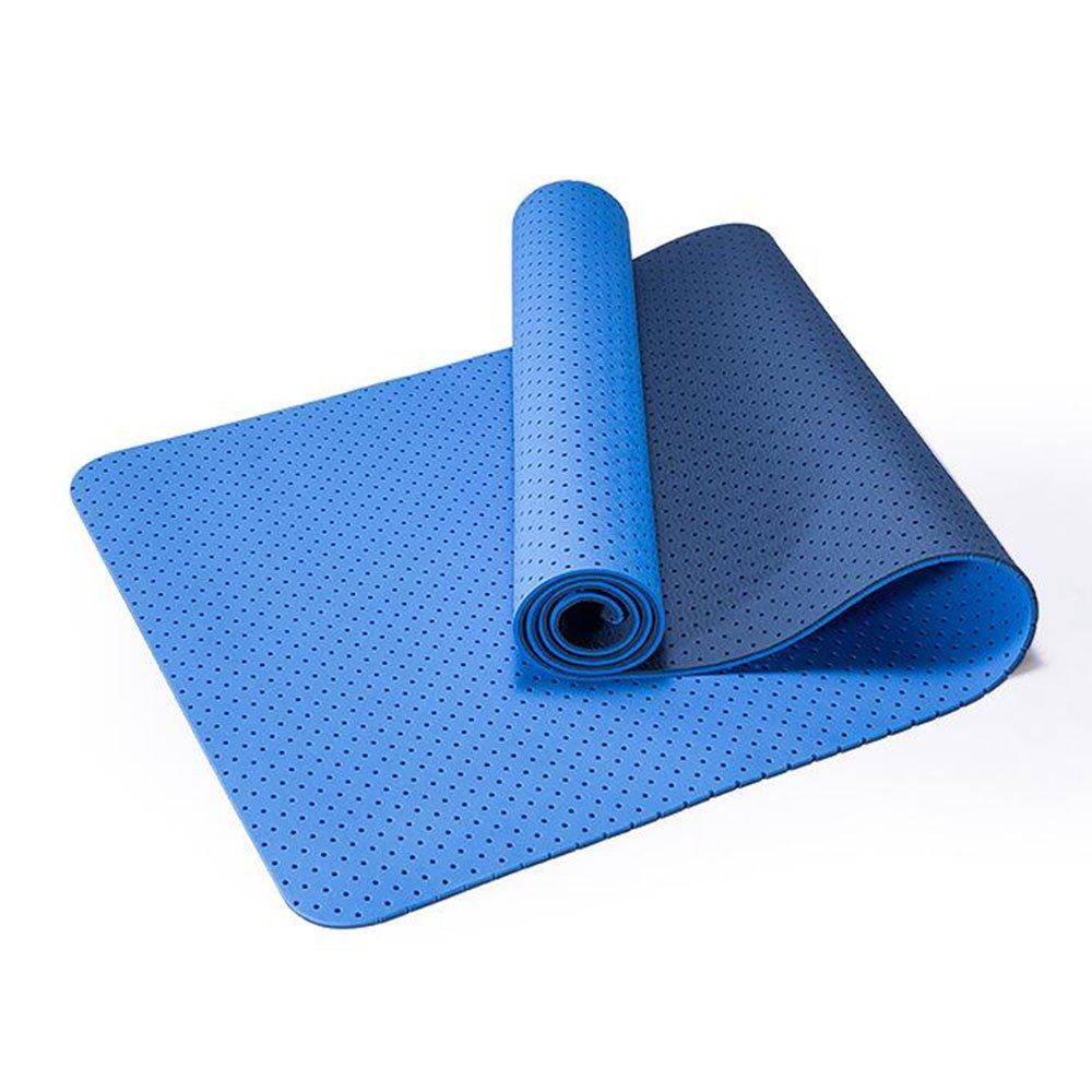 Anti-Rutsch-Yoga-Matte --- Anti-Rutsch-Odorless atmungsaktiv hohle hohle Yoga-Matte, vier Farben sind verfügbar --- Naturkautschuk Yoga-Matte, für Training   Pila