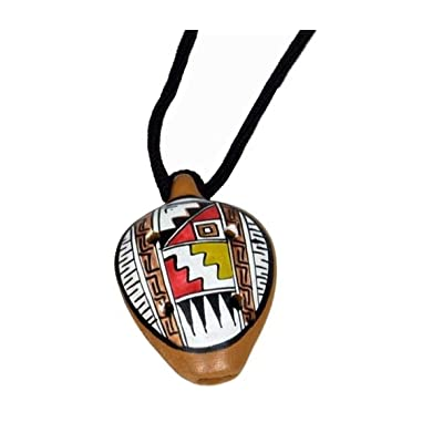 Westco Jamtown Peruvian 6-Hole Clay Ocarina Necklace (Mini; L1.5in; Age 3+ Years): Toys & Games