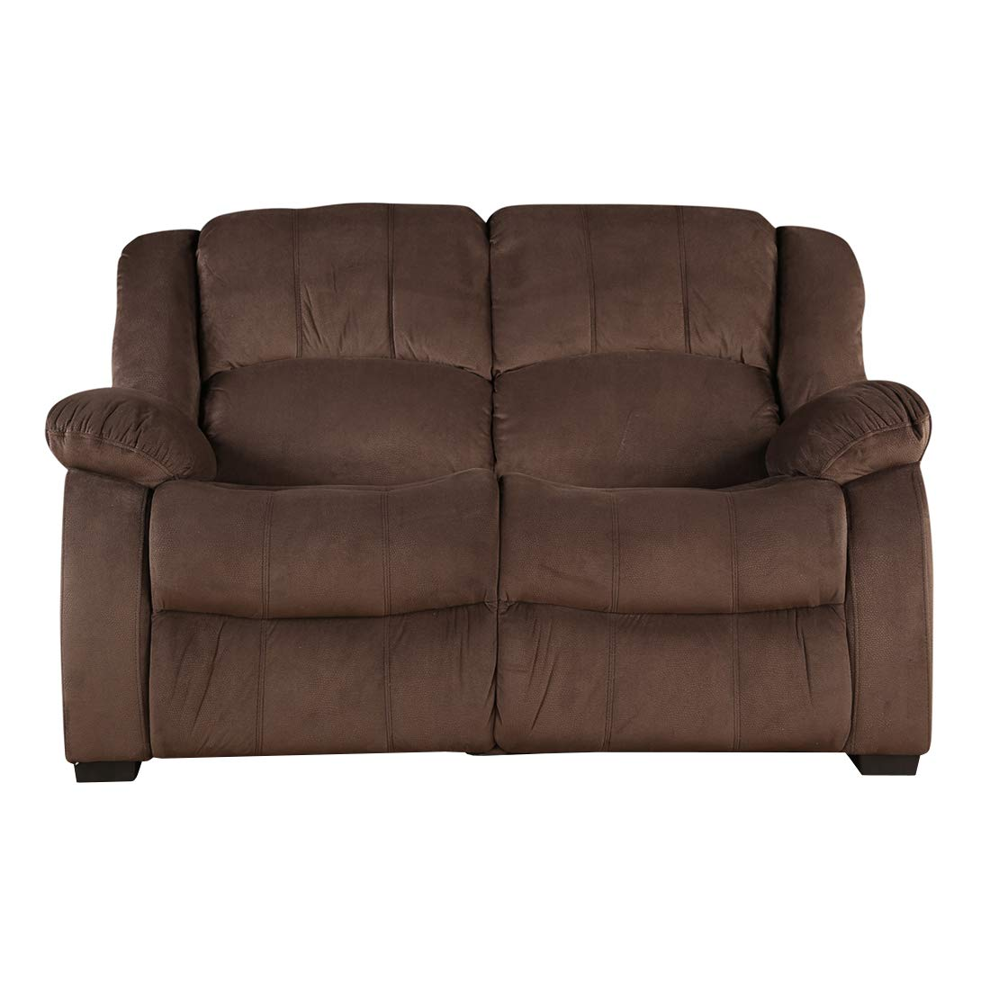 Rhea Two Seater Fabric Sofa Brown