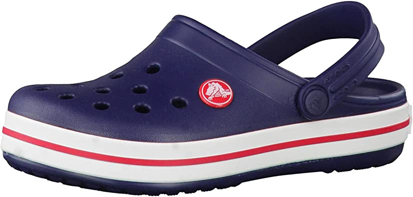 Crocs Kids' Crocband Clog, Navy/Red