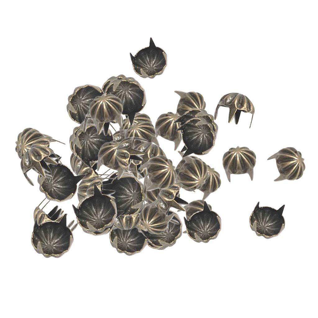 perfk 50x Kü rbis Form Pyramidennieten Kü rbis Nieten Ziernieten Basteln DIY - Grau schwarz