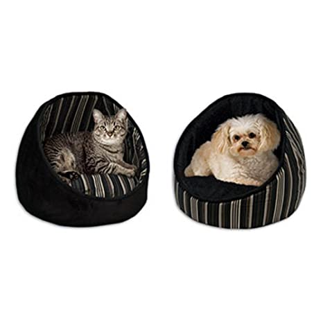 Amazon.com : Midwest Homes for Pets Reversible Cabana Bed with Stripes, Black : Cabana Furniture : Pet Supplies
