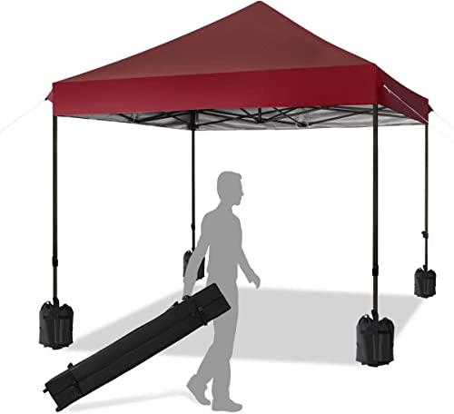 KITADIN Pop up Canopy Tent 10×10 FT Commercial Instant Shelter Outdoor Canopies