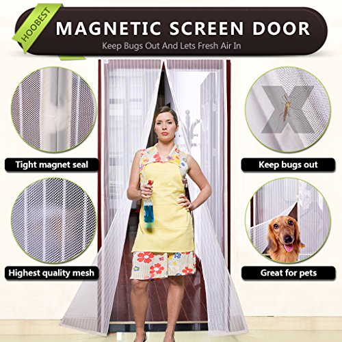 Magnetic Velcro Keep Screen Automaticlly Fits Openings