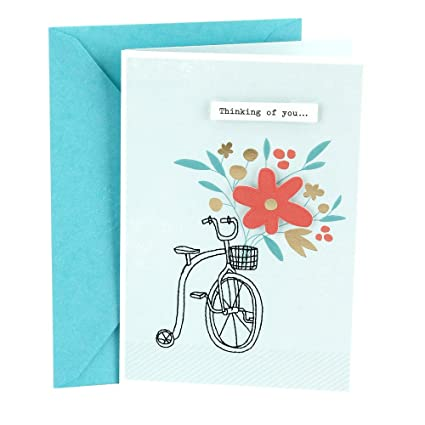 Amazon hallmark get well greeting card bicycle with flowers hallmark get well greeting card bicycle with flowers m4hsunfo
