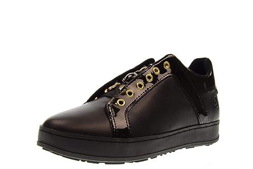 Apepazza Scarpe Sneaker SCAMICIATA MOD. Sonia Donna in Pelle Colore Nero  D19AP03  Amazon.it  Scarpe e borse e28e04f3459