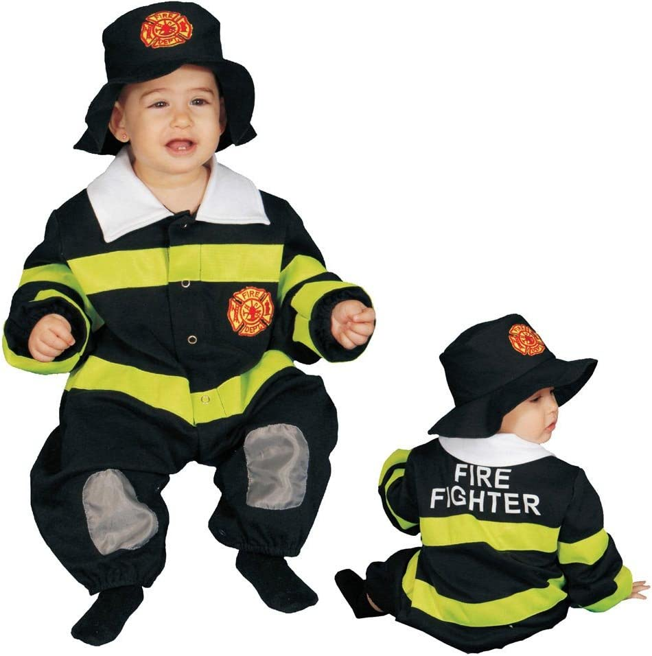 Dress Up America Little Baby Deluxe Fire Fighter Costume Set