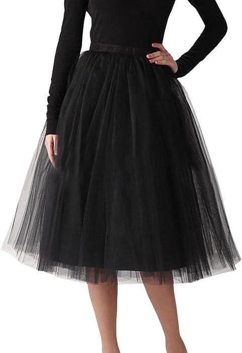 11a9e3bdd3 Belle House Women A Line Short Knee Length Tutu Black Tulle Prom Party Skirt  2018 Petticoat