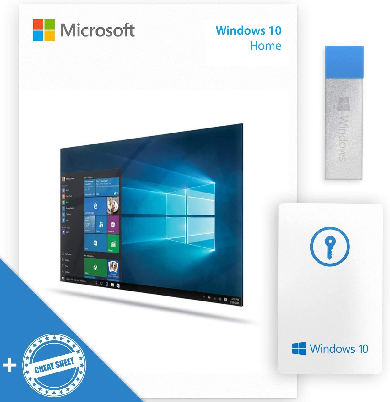 WINDOWS10 HOME USB 64-32 bit USB Flash Drive | English Language Full Product + Activation Key