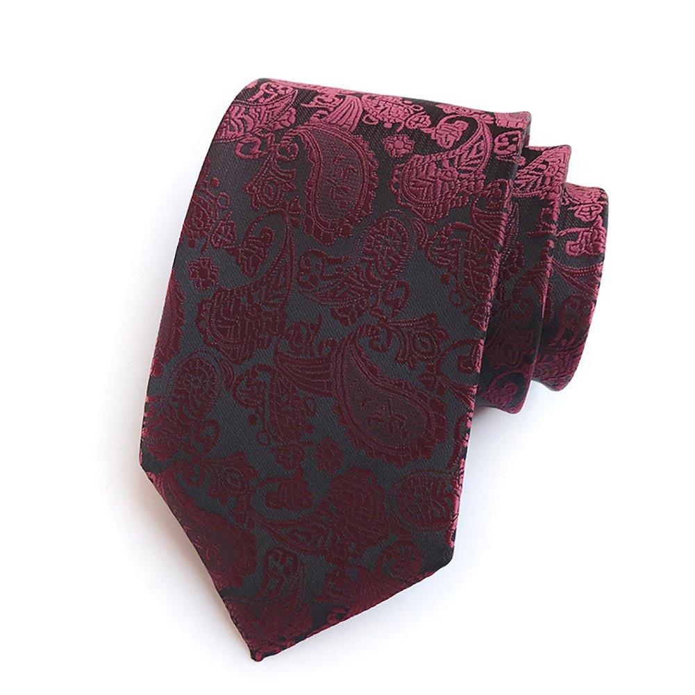 Pisces.goods New Pulm Paisley Jacquard Woven Men's Tie Necktie