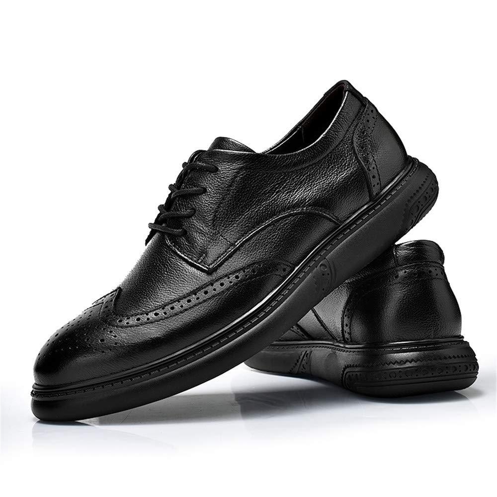 XHD-Schuhe Herren Einfache Einfache Einfache Business Oxford Ccasual Mode Skulpturale Komfort Spitze OX Leder Massage Brogue Schuhe (Farbe   Schwarz, Größe   44 EU) 37a14f