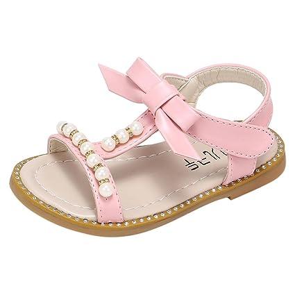 Zapatos Bebe Verano Antideslizante Suela Blanda Primeros Pasos Sandalias para Recién Nacido Niña ¡Verano caliente