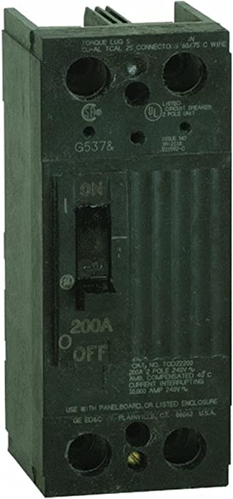 GE Energy Industrial Solutions TQD22200WL Double Pole Bolt on Breaker with Lug, 200-Amp