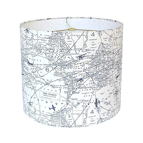 Airplane Lamp Shade Map Lampshades Navy Blue Custom Sizes Ma