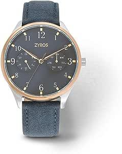 Zyros Watch for Men, Analog, Leather - ZAL038M280505