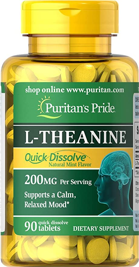 L-Teanina 200 mg 90 cps / Favorece el control del estrés y la ansiedad