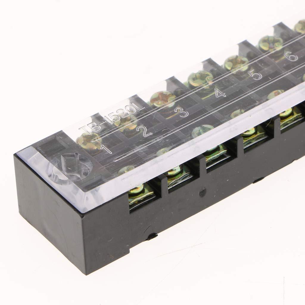 Almencla 4X 15A 3D-Drucker 600V Kabelklemme Isolierte Anschlussklemmenleiste Mit Gängiger Anschlussmethode