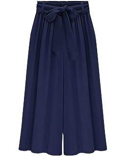 Pantalons Palazzo Femme Fashion Large Taille Haute Culotte Femme Pantalon  De Loisirs Elégante Confortable Fille Vêtements 3c2384e72970