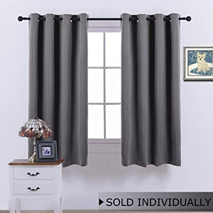 NICETOWN Blackout Window Curtain For Bedroom   (Grey Color) Home Decoration  Thermal Insulated Room