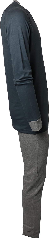 Pigiama Kappa Uomo in Puro Cotone Maglia Maniche Lunghe e Scritta Pantalone Lungo in Tinta Unita