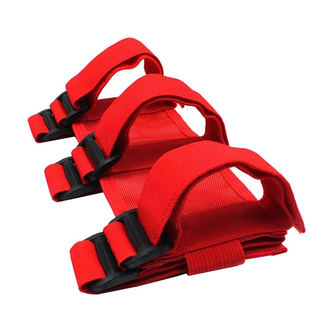iFJF Adjustable Roll Bar 3 lb Fire Extinguisher Holder for 2007 2018 Wrangler JK Car Truck UTV MINGLI Vehicle Extinguisher Strap Mount Bracket Strap Red