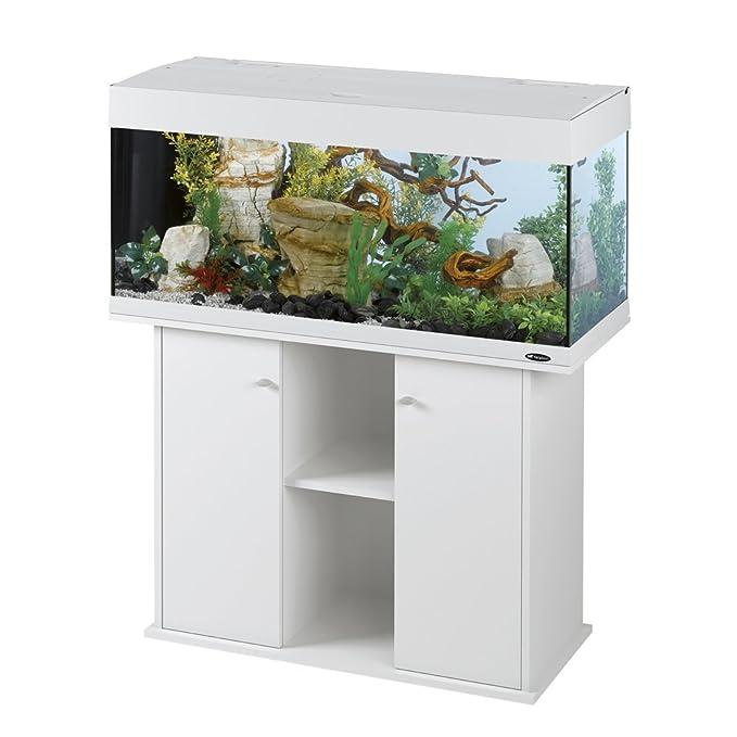 Ferplast 65038011 Acuario Dubai 120, tamaño: 121 x 41 x 56 cm, 240 L, color blanco: Amazon.es: Productos para mascotas