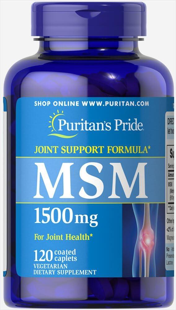 Puritan's Pride MSM 1500 mg-120 Caplets