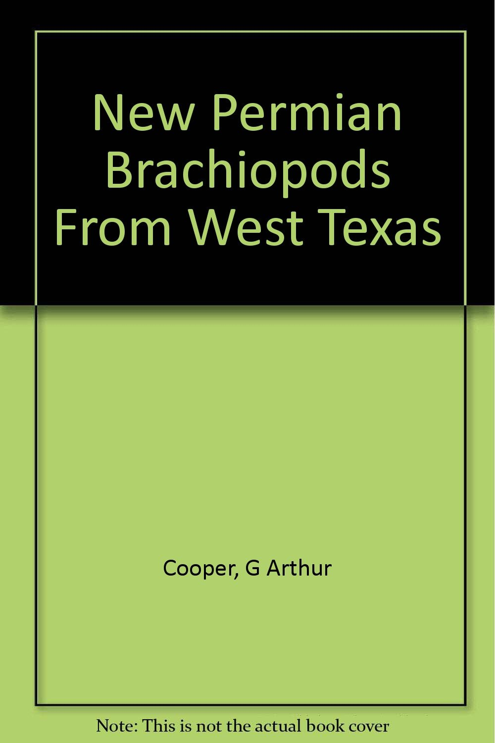 New Permian brachiopods from west Texas (Smithsonian contributions to paleobiology, no. 1)