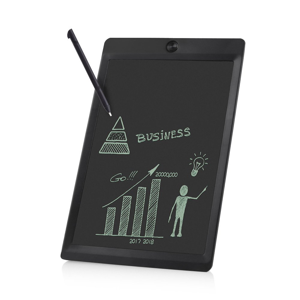 10 Inch LCD Writing Tablet - Portable Electronic Writing Drawing Board Doodle Pads, Digital Handwriting Notepad with Stylus for Kids & Adults at School, Home and Office (Black)