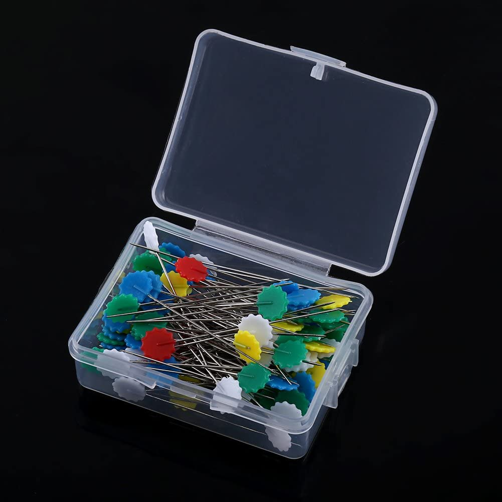 Bow tie 100pcs Stainless Steel Multi-Color DIY Quilting Tool with a Pastic 4 Styles Optional Ginyia Sewing Patchwork Pins