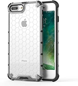 iPhone 8 and iPhone 7Case | Air Bag Shockproof | Soft Clear TPU+PC | Accelerated Heat Dissipation | Scratch Resistant | Wireless Charging| Compatible with Apple iPhone 8 and iPhone 7 4.7 inch (White)