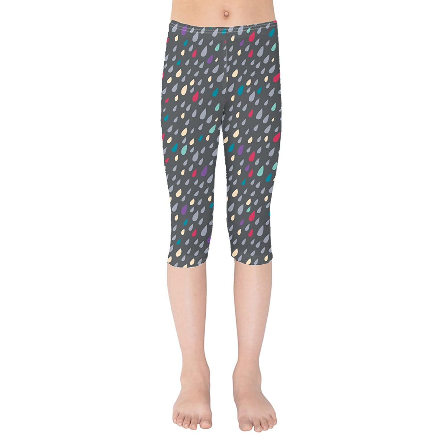 Only Happy When It Rains Kids Capri Leggings