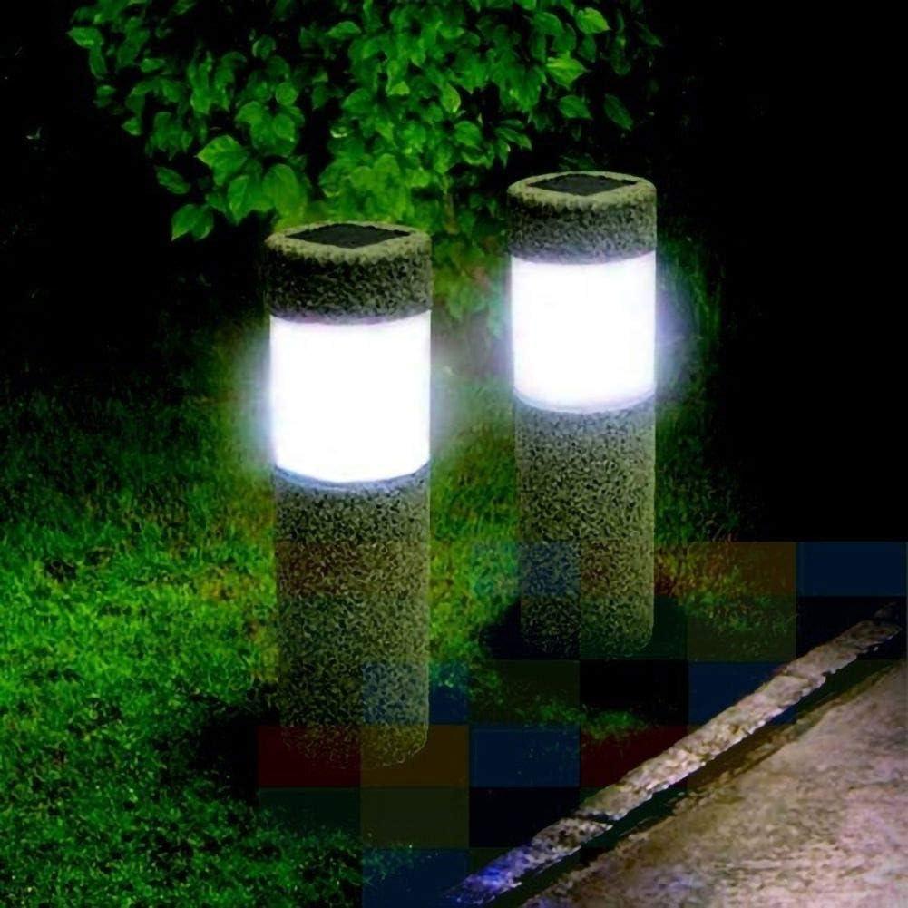 Lampe Solaire Ext/érieur Puissante /Étanche en Acier Inoxydable de Haute qualit/é Lampe LED Solaire pour la lumi/ère Solaire-borne ext/érieure l/ég/ère de Chemin de Jardin de pelouse des lumi/ères