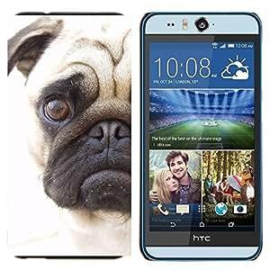 YiPhone /// Prima de resorte delgada de la cubierta del caso de Shell Armor - Pug Cara triste de los ojos de Pelo Corto perro Hocico - HTC Desire Eye M910x