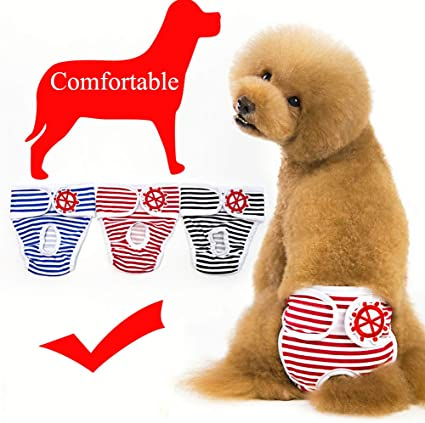 Pet Parents Washable Dog Diapers of Durable Doggie Diapers Premium Male /& Female Dog Diapers 3pack