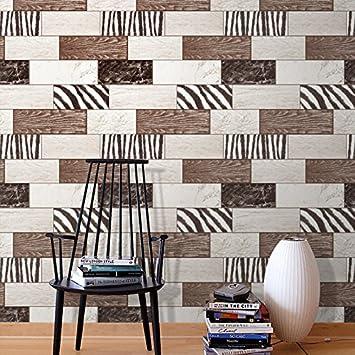 Wapel Wohnzimmer Holz Ziegel Stein Muster Quadrat Tapete Küche ...