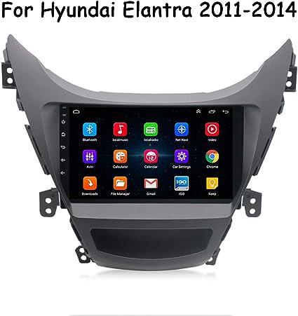 Hp Camp Android Auto Navigation Gps Für Hyundai Elantra 2011 2014 9 Zoll Stéréo De Voiture Multimedia Player Fm Aux Usb Quad Core Lien Miroir Lenkradsteuerung Wifi 1g 16g Sport Freizeit