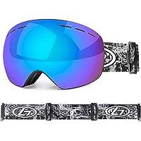 Chen's brother Ski goggles ski veneer glasses double protection anti-fog lens windproof professional anti-glare winter…
