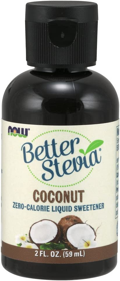 NOW Foods, Better Stevia, Liquid Zero-Calorie Sweetener, Coconut Flavor, Low Glycemic, Certified Non-GMO, 2-Ounce