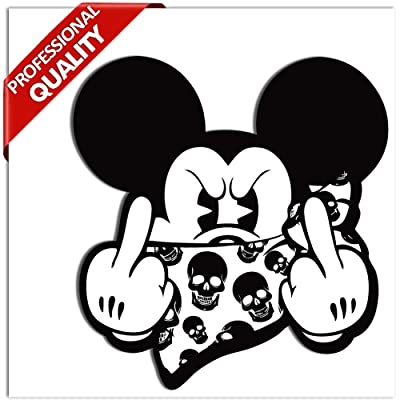 2 x PVC Stickers Mickey Mouse Middle Finger B 34: Home Improvement