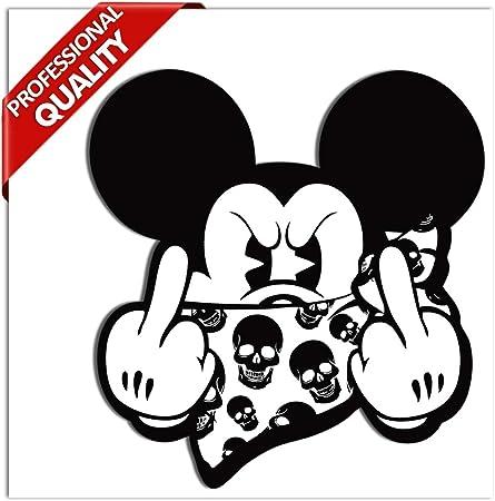 Autocollant de voiture fantaisie en vinyle motif Mickey Mouse