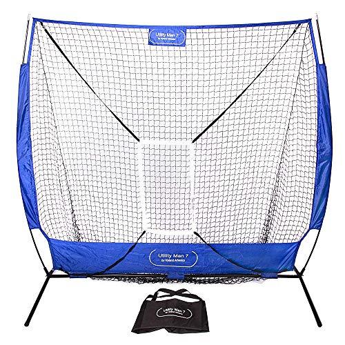 Jugs Instant Screen Practice Net - Utility Man 7 Baseball/Softball 7' x 7' Practice Net