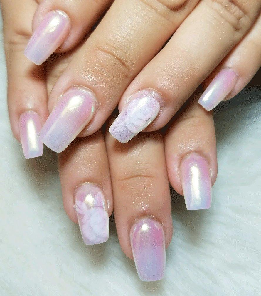 Ushion Nail Powder Aurora Pulver Nägel Neon Meerjungfrau Pigment ...
