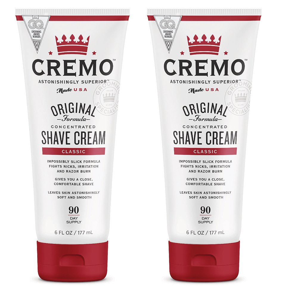 Cremo Original Shave Cream, Astonishingly Superior Smooth Shaving Cream Fights Nicks, Cuts And Razor Burn, 6 FL oz, 2-Pack