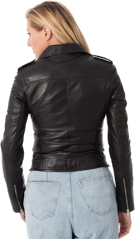 Skin2Fashion Womens Leather Jackets Motorcycle Bomber Biker Real Leather Jacket 05