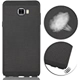CELKASE Ultra Slim Mesh Case Lightweight Heat Dissipation Anti-Scratch Premium Hard Pc Shell Protective Case Cover For Samsung Galaxy C9 Pro (Black)