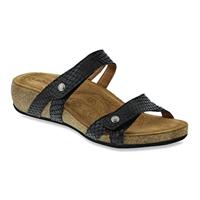 Taos Footwear Women's Audition Slide,Black Snake Leather,EU ...