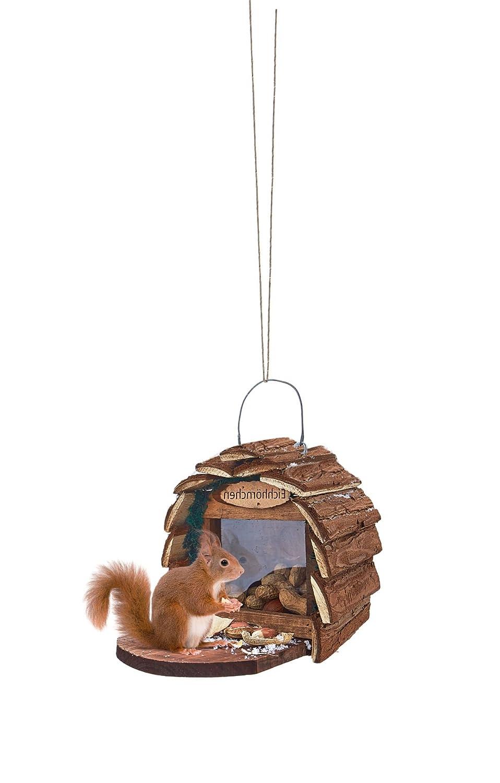 miaVILLA Futterhaus - für Eichhörnchen - mit Einfüllöffnung - einfache Reinigung - Tannenholz PureDay